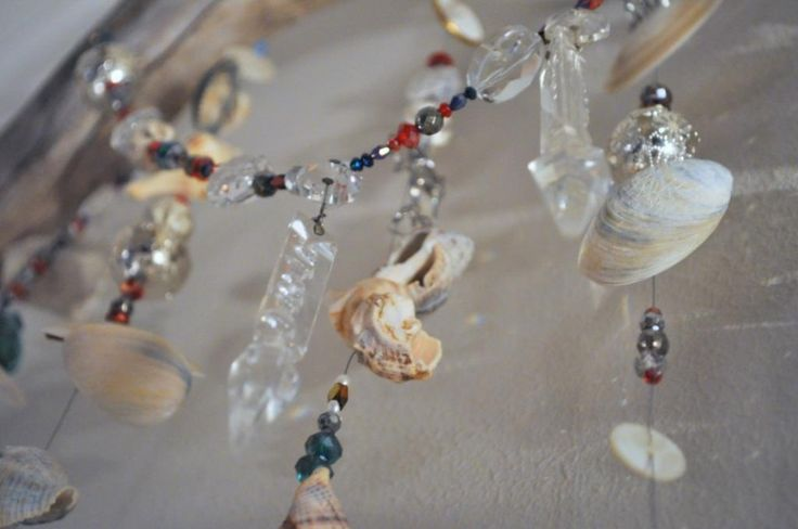 Bedroom sparkle - wall hanging - beads, shells & things DIY