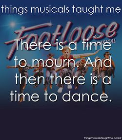 Things Musicals Taught Me... Footloose (I was gonna pin this anyway, then I saw that the pic in the background was from when Derek Hough played Ren in London's production and I had a total freak out!!!!!)