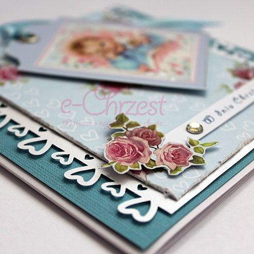 Urok rękodzieła - karty ręcznie robione. #scrapbooking #KartyNaChrzest