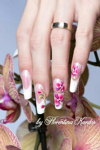 Gel nails with gel painting