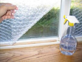 useing bubble wrap to insulate windows