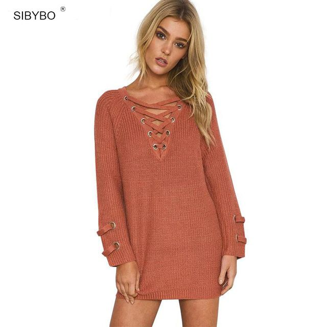 V-neck Pullover Rusty Sweater - THE PICKY FASHION