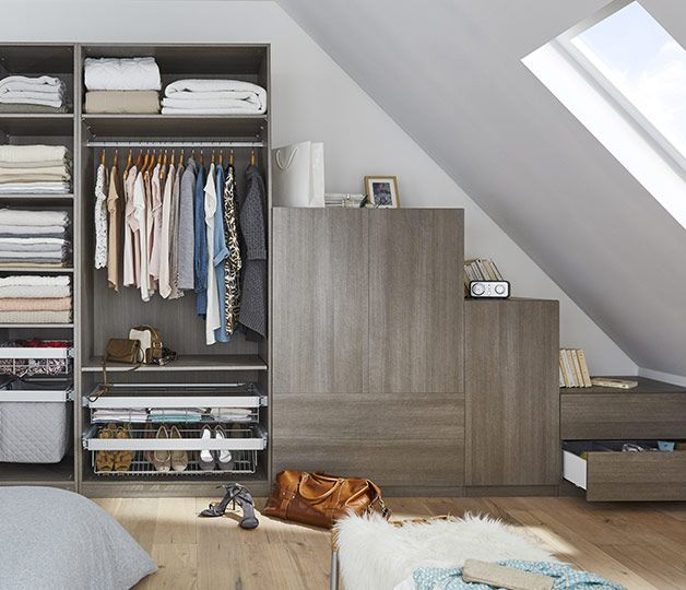ce mod le compos de caissons ind pendants permet d 39 am nager un dressing beau et fonctionnel. Black Bedroom Furniture Sets. Home Design Ideas