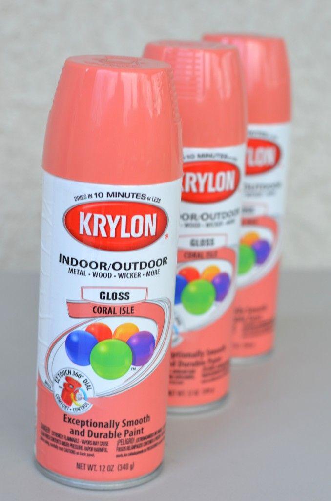 spray paint makeover krylon coral isle