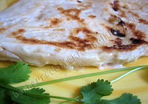Naan au fromage ou cheese-naan, avec KitchenAid ou MAP