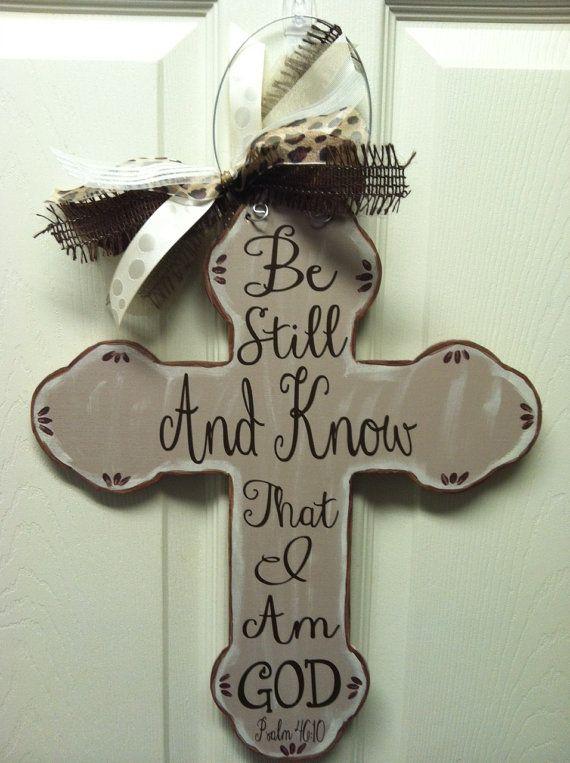 Wooden+Cross+Door+Hanger+by+SewStickyDesigns+on+Etsy,+$25.00