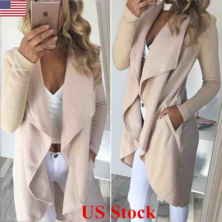 US Womens Knitted Long Jumpers Jackets Overcoat Ladies Knitwear Cardigan Coats #Unbranded #Overcoat