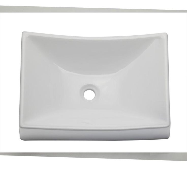 Decolav 1446-CWH Classically Redefined Rectangle Above Counter Lavatory Sink, White 542922