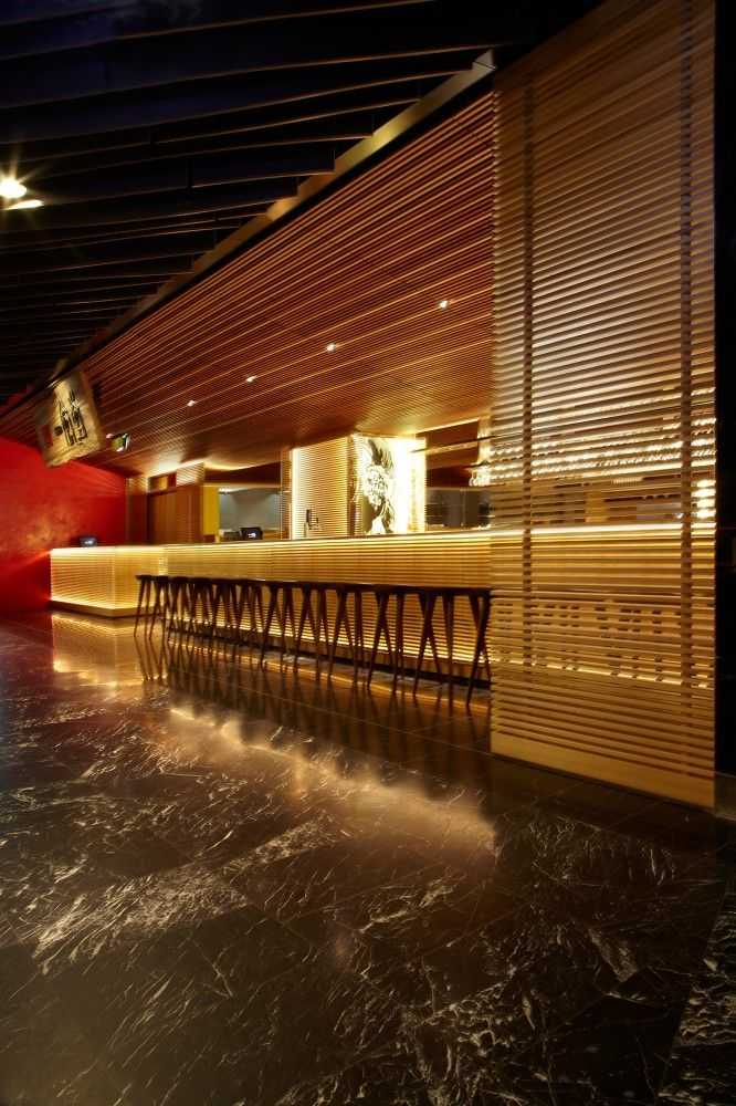 Interior Design: interesting bar design, Ippudo Sydney by Koichi Takkada Architects // Diseño Interior: diseño de bar, fantástico. Ippudo Sydney diseñado por Koichi Takkada Architects