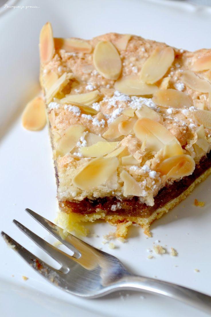 Pourquoi je grossis ... : Tarte macaronée, crème d'amande & confiture de framboises.