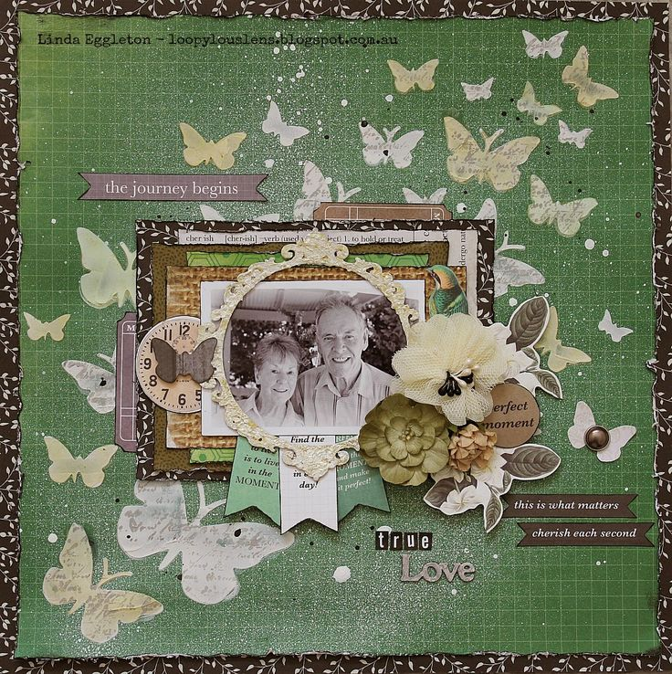 Beautiful page from Linda - Kaisercraft Limelight for All About Scrapbooks