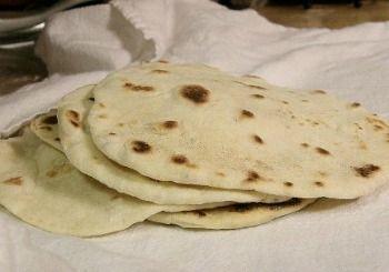 Homemade Flour Tortillas cooked
