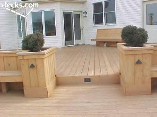 Deck ideas with benches.