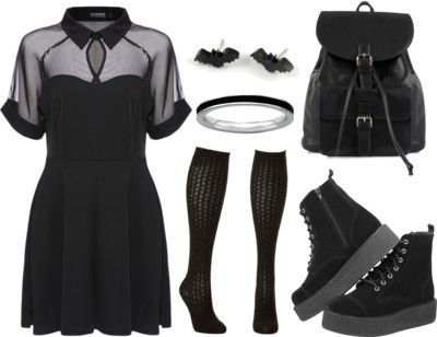 Gothic wardrobe from scratch Love it so much, especially the shoes