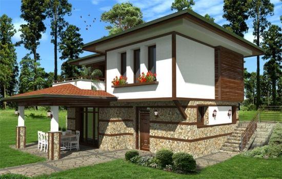 Casa cu 4 camere pentru teren in panta