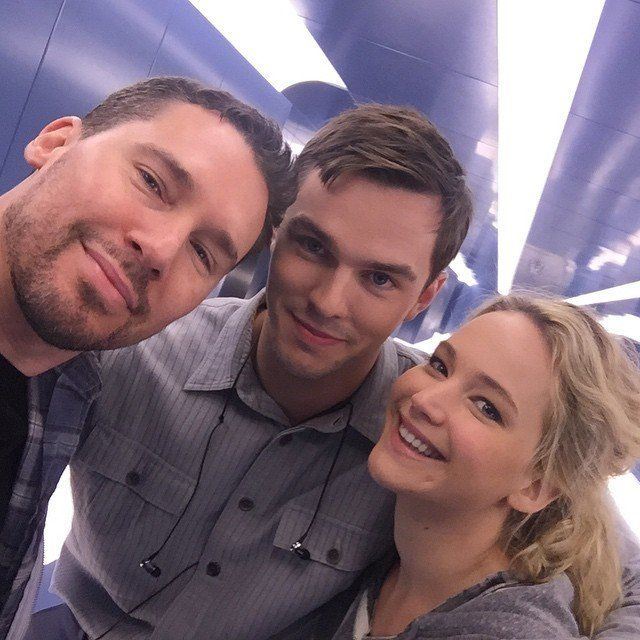Pin for Later: 24 Times You Fell More in Love With Jennifer Lawrence This Year The Reunion With Nicholas Hoult