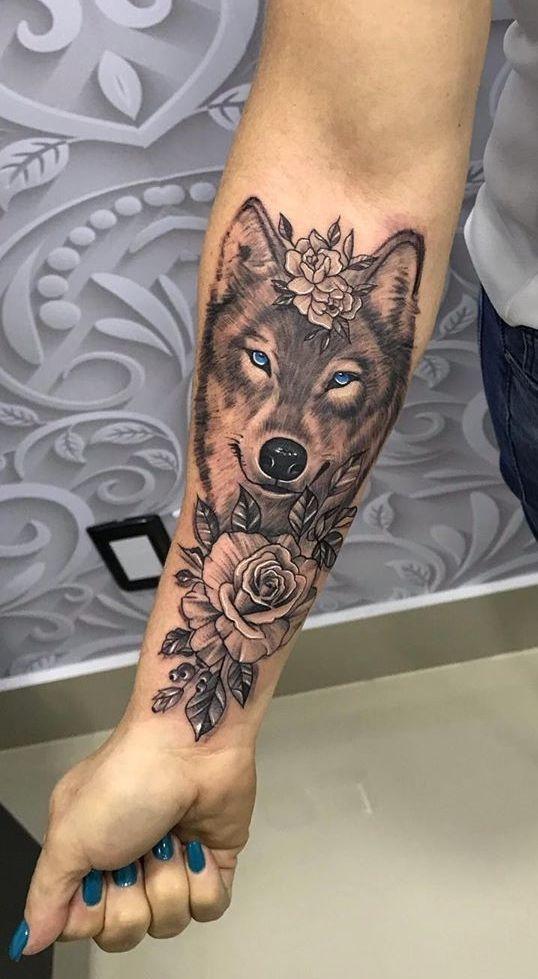 60 Tatuagens De Lobo Para Você Se Inspirar (2019) – Fotos E Tatuagens,  #fotos #inspirar #lob…
