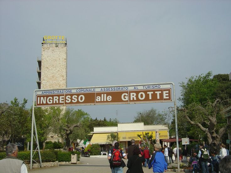 Entrance to the Castellana Grotte