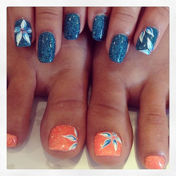 Tropical flowers - I think it would be better if the flowers on the hands where orange