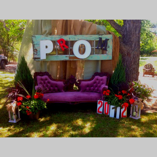 """Prom picture area!Steve helped me create my """"vision"""" to help our kiddos celebrate their Prom!"""