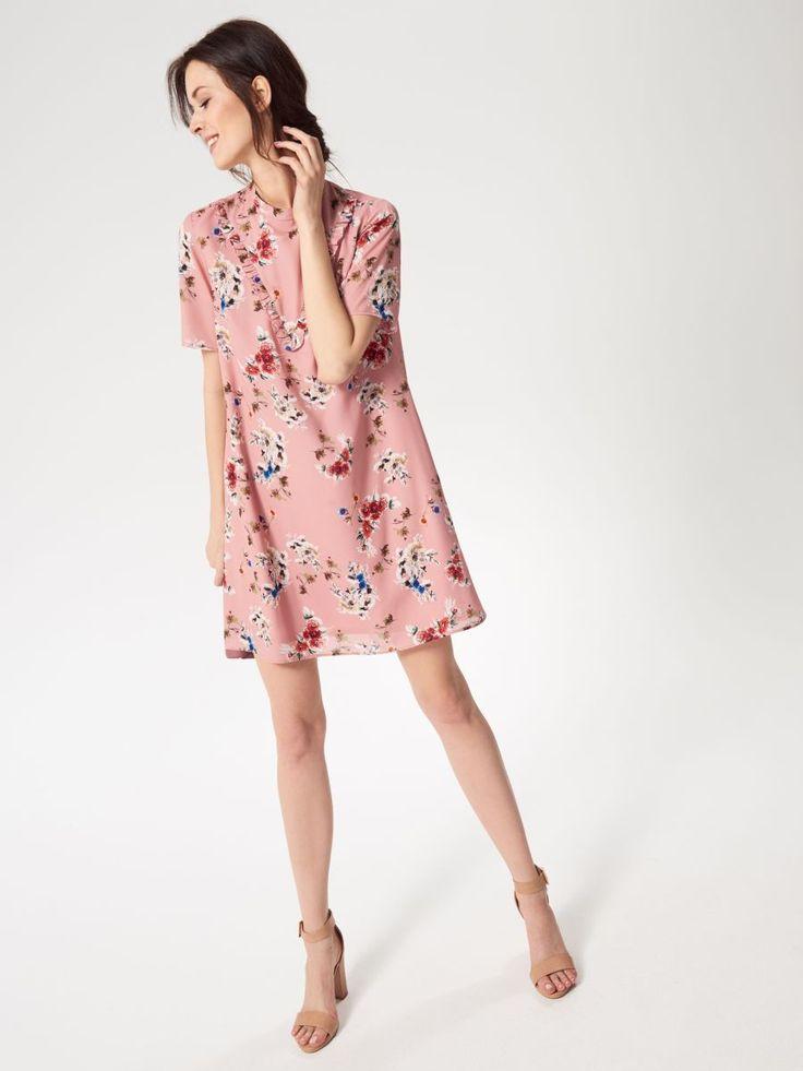 Květinové šaty, MOHITO, RS492-MLC