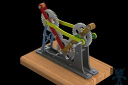 Gear Train Mechanism with Fixed and Swaying Axes