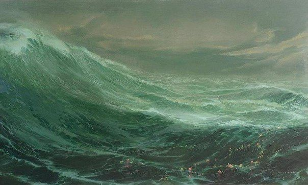 """Tim Storrier """"The Wave and the Garland"""" 1999"""