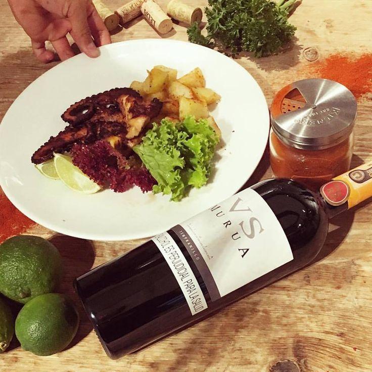 Un maridaje perfecto en #Lagastroteca  Pulpo acompañado de un Murua VS  #restaurante #lagastroteca #lovefood #food #pulpo #resto