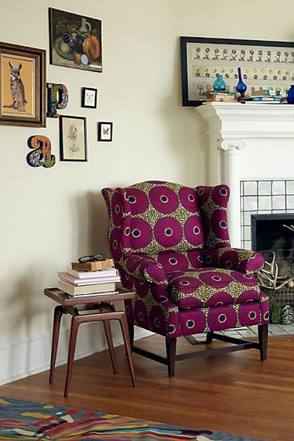 Funky Chic: African Print Furniture  Fashion www.ZUVALifeCulture.com