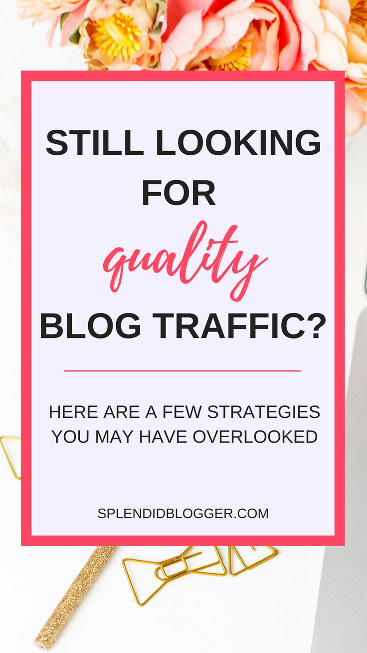 Struggling to grow your blog traffic as a beginner blogger? It's not always easy when you first start blogging. Click through for some strategies to grow your blog traffic that'll help grow your email list. | splendidblogger.com