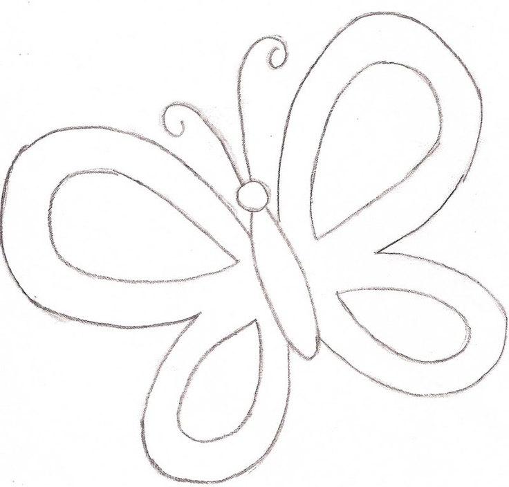 Butterfly Coloring Page - Template