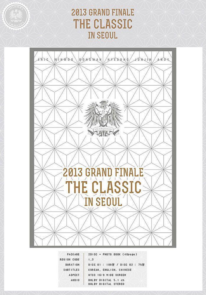SHINHWA 2013 Grand Finale THE CLASSIC IN SEOUL DVD 2 Disc+40p Photobook+Poster #KoreaMusicItem