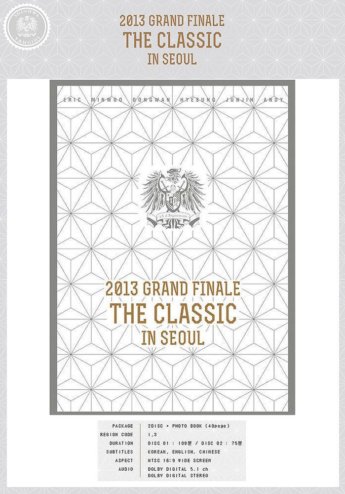SHINHWA 2013 Grand Finale THE CLASSIC IN SEOUL DVD 2 Disc+40p Photobook+Poster #KoreaMusicItem