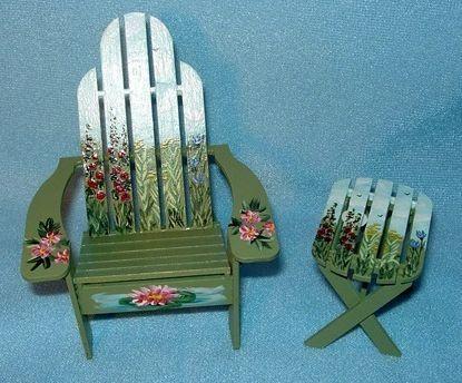 painted adirondeck chairs | ... adirondack chair table by gwen campbell hand painted adirondack chair