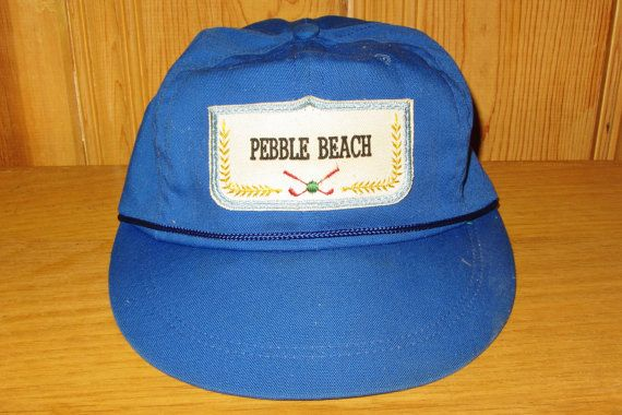 PEBBLE BEACH Golf Country Club Rare Vintage 50s Blue Leather Strapback Cap @ HatsForward on Etsy