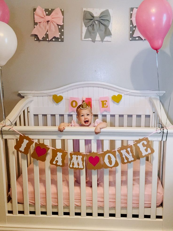 DIY 1st Birthday Crib Photoshoot in 2020 1st birthday