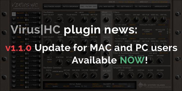 Access Virus|HC v1.1.0 Update out now! on https://www.mysteryislands-music.com/access-virushc-v1-1-0-update-out-now/