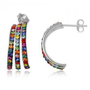 NA9087ZSS Strieborné náušnice so zirkónmi #supersperky #krasnesperky #farebnesperky #color #jewelry #striebornenausnice #silvrearrings #earrings #nausnice