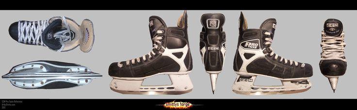 Reference - CCM Hockey Skates by *Art-by-Smitty on deviantART