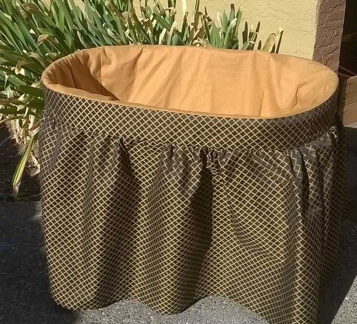 Custom bassinet cover and matching sheet, bassinet skirt by BittyOnesBoutique on Etsy
