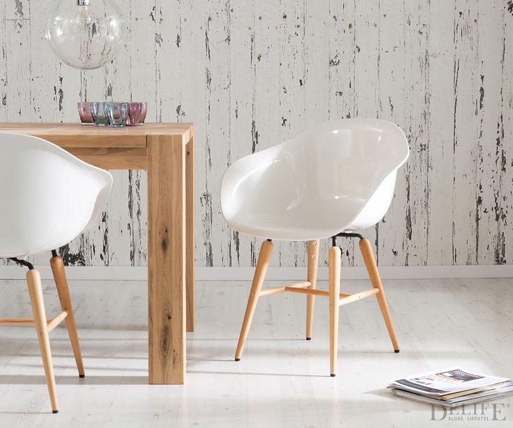 Esszimmerstuhl Forum Wood White Design Stuhl Weiss