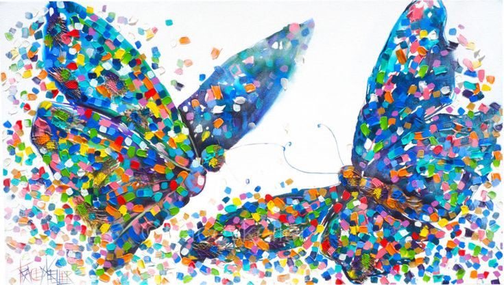The Very Special Connection Tracey Keller Butterfly Painting