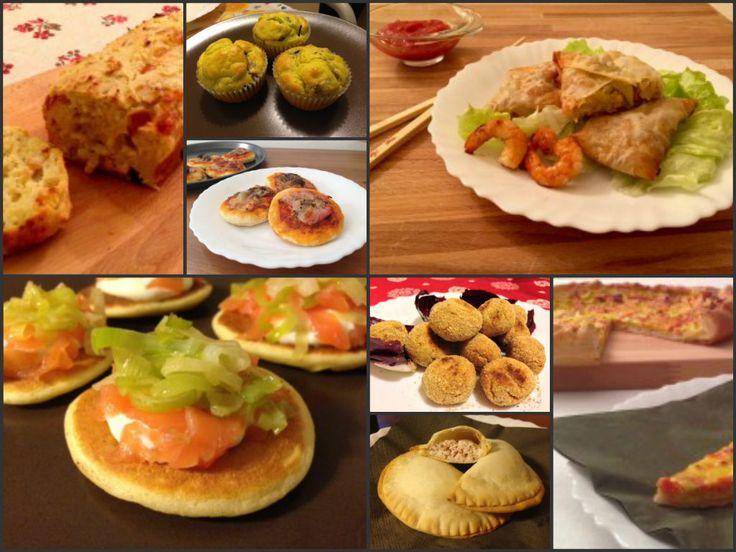 Raccolta di antipasti, torte salate, finger food e stuzzichini facili e veloci, tante idee semplici e sfiziose per le feste di Natale!