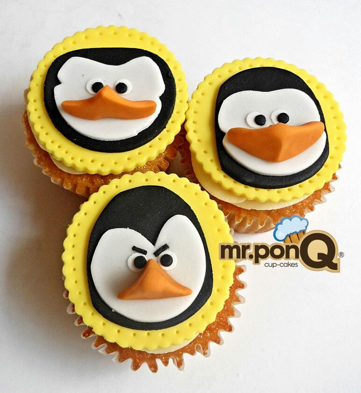 Mr.ponQ cup-cakes pinguinos magaascar