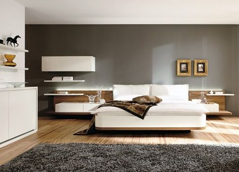 hulsta slaapkamer mioletto ii stijlvol slapen bed achterwand met twee kussens wandkast. Black Bedroom Furniture Sets. Home Design Ideas