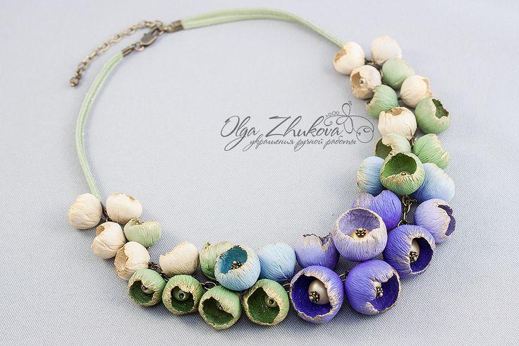 Clay necklace by Olga Zhukova
