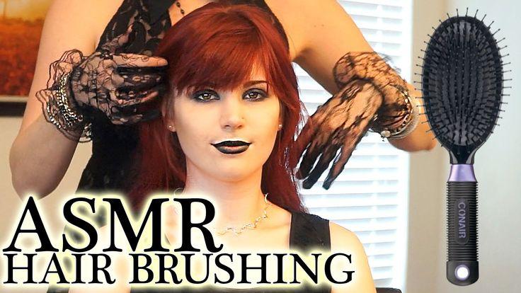 🎧 Binaural ASMR Hair Brushing #11 - Relaxation & Soft Spoken Goth Girl C...