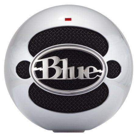 Blue Microphones Snowball USB Condenser Microphone, Brushed Aluminum, Multicolor