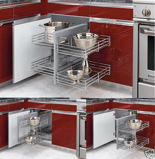 Blind corner kitchen cabinet plans woodworking projects for Blind corner kitchen cabinet ideas