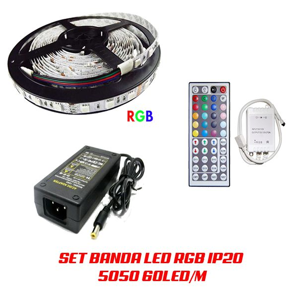 set banda led 5050 rgb